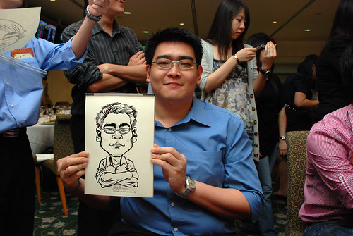 caricature live sketching for Thorn Business Associates Appreciate Night 2011 - 27