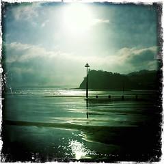 where light begins (a.c.thomas) Tags: sea seascape green devon seashore teignmouth wintersea shaldon theness natureinwinter southdevoncoast johnslens hipstamatic kodotxgrizzledfilm