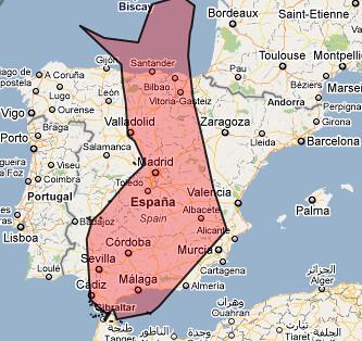 Una compración de superficie entre Finlandia y España