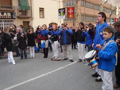 Músics durant les Decennals de Valls del 2011