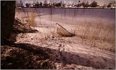 Half Sunk - In Ice ? (karlstad Igr) Tags: longexposure night river dark boat karlstad sos canoneos50d fenan canonefs1022mmf3545usm