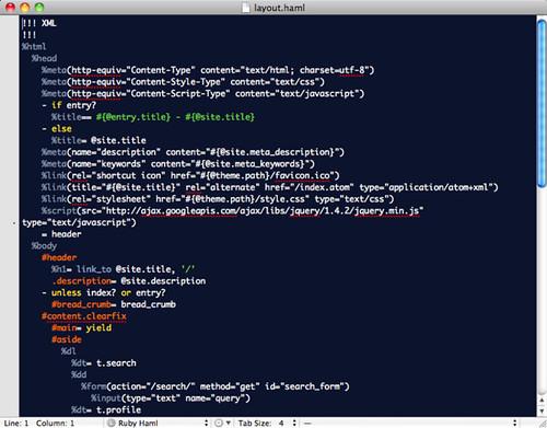 Haml on TextMate