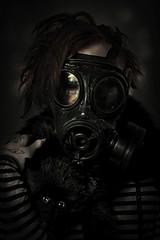 ...tell me when it ends/begins (Adam Hague) Tags: world portrait black dark post mask image joe gas end gloom apocalyptic