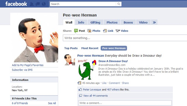 UM SO PEE WEE HERMAN MENTIONED MY HOLIDAY