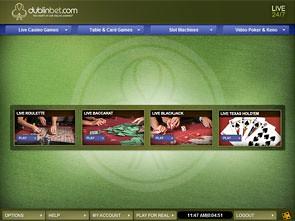 DublinBet Live Casino Lobby