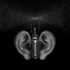 That Good Old Eavesdropping Device (5canner) Tags: bw butterfly technology surreal device retro ear scifi gadget eavesdrop