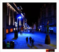 wk04-2011. Buchanan Street, Glasgow (moi_images) Tags: street blue people statue night lights scotland traffic cone glasgow buchanan picaweek 2011 wk04