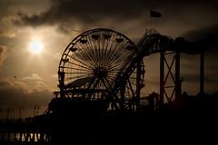 Ride it like you stole it (Squid Vicious) Tags: california sunset beach birds santamonica rollercoaster