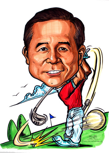 golfer caricature for GIC
