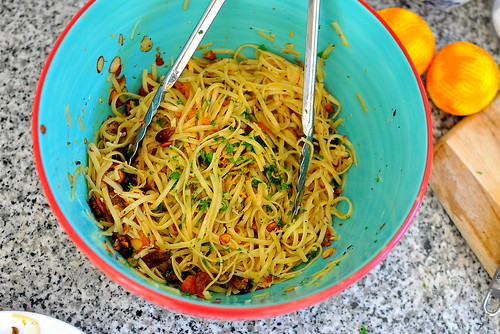 Dorie Greenspan's Beggar's Linguine - Pasta with Brown Butter, Dried Fruits, and Nuts