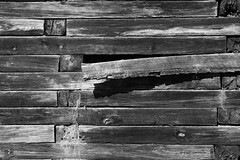Warped (matthileo) Tags: wood blackandwhite bw railroadties
