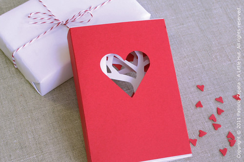 valentine's day matchbook card