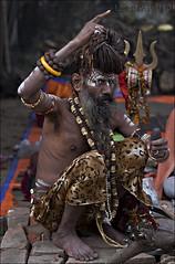 (Lopamudra9) Tags: street fair hinduism 70200 sadhu ganja lopamudra gangasagar babughat