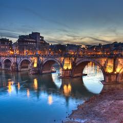 Ponte degli Angeli by night, Rome - Italy (luigig75) Tags: bridge vatican rome roma canon ponte vaticano angels sanpietro hdr 1740 santangelo 450d canon1740mmlf4 bellitalia