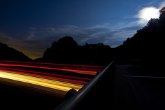 A blur. (Smackthatbird) Tags: longexposure summer moon motion cars night canon franklin virginia trails fullmoon motionblur roanoke 5d lighttrails rockymount taillights franklincounty 5dmarkii