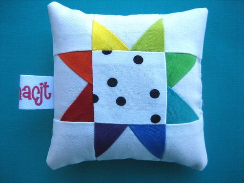Rainbow Star Pincushion