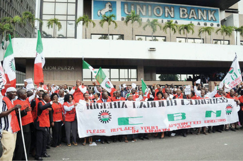 The Nigeria Labour Congress has vowed to picket Union Bank branches over a dispute involving the recognition of the labour organization. The NLC represents large numbers of workers across Africa's most populous state. by Pan-African News Wire File Photos