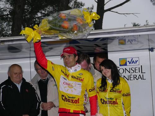 David Moncoutié - Arrivée Tour Med au Faron - Toulon  - février 2011 - P1000552