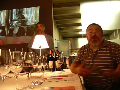 Emili Esteve i Xavier Morera presentant el tast.