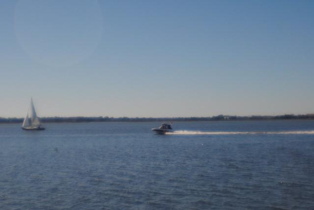 sailboat, motorboat