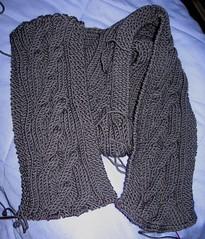 merino 5 gray scarf