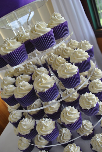 Purple And White Wedding Cupcake Tower A Photo On Flickriver