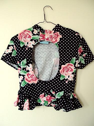 90's Floral Top (back)