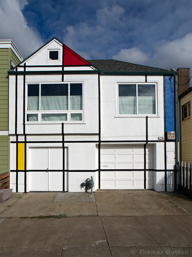 House with Mondrian-Inspired Design, San Francisco, California, 2011