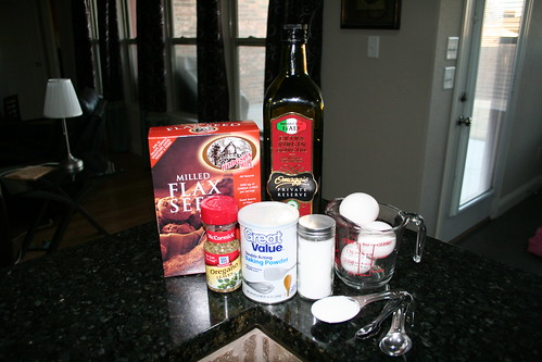 Ingredients for the Flaxseed Pizza Crust