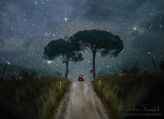 arriving on the horizon () Tags: auto trees andy car alberi night stars landscape andrea andrew notte paesaggio stelle benedetti