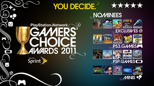 PlayStation Network Gamers' Choice Awards 2011