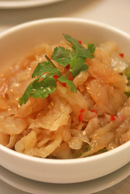 Jelly Fish with Spicy Vinegar ($6.80)