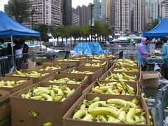 HongKong marathon フィニッシュ地点のバナナ