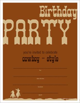 libbie grove design free printables cowboy birthday party invite