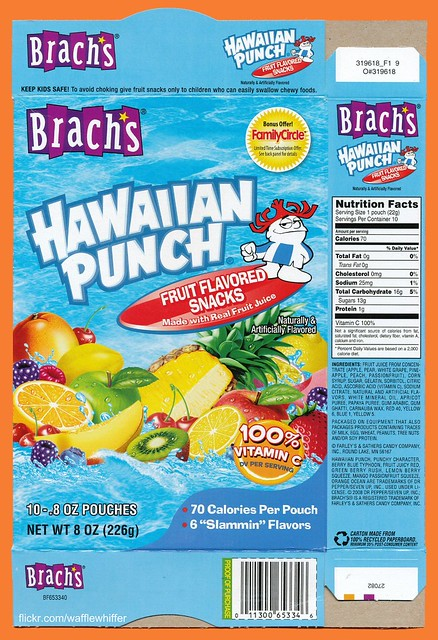 Old Hawaiian Punch Fruit Snacks