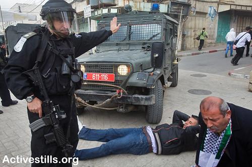 """Open Shuhada street"" protest, Hebron, Palestine, 25/2/2011"
