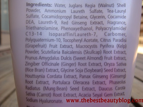 Bioglo, body scrub ingredients