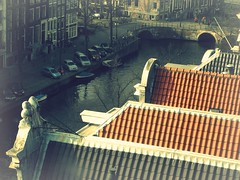 Rooftops of Amsterdam (Bjrn Giesenbauer) Tags: bridge houses holland netherlands amsterdam canal rooftops roofs gracht