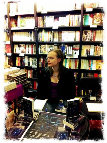Jennifer Kirk at a book signing