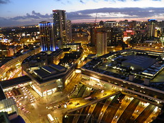 Birmingham city centre and New Street Station