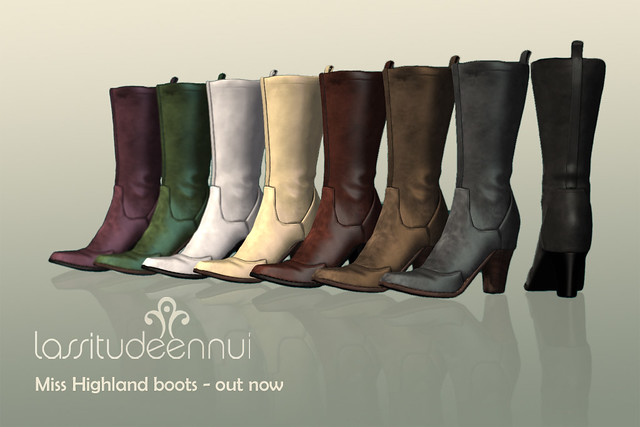 lassitude & ennui Miss Highland boots