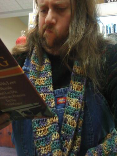 Perusing a book