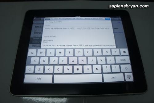 iPad Huge Keyboard