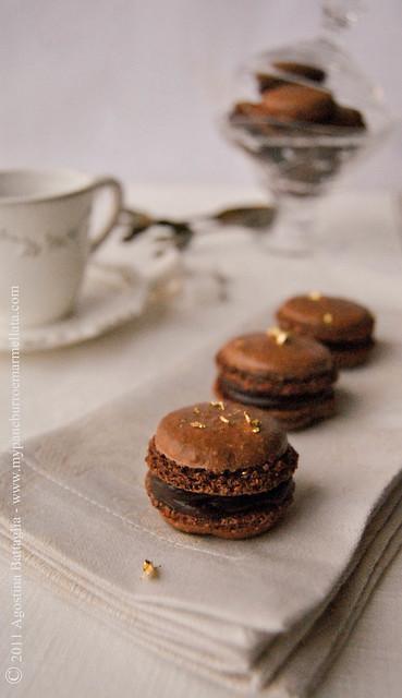 macarons cioccolato fondente e burro salato dal cuore puro1.1