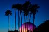 Disney Epcot Silhouette Silhouette Epcot Twilight