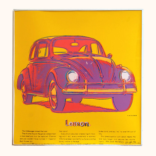 Andy Warhol Volkswagen Screenprint in Unique Color Combination
