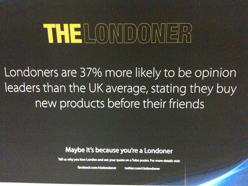 The Londoner posters by CBS Outdoor