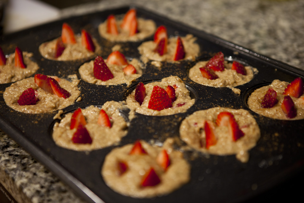Vegan Strawberry Banana Muffins