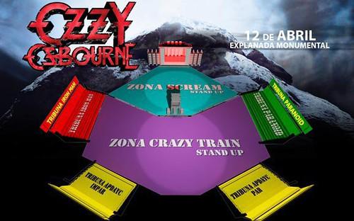Ozzy Osbourne en Lima - Explanada del Monumental - Mapa