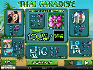 free Thai Paradise slot mini symbol